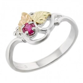 Black Hills Ezüst & 12K Arany Gyűrű Rubinnal