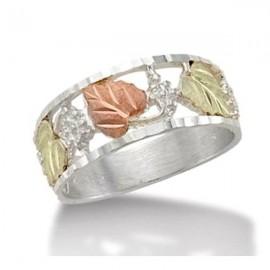 Black Hills Sterling Ezüst & 12K Arany Eljegyzési Gyűrű