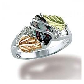 Black Hills Sterling Ezüst & 12K Arany Gyűrű Misztikus Topázzal
