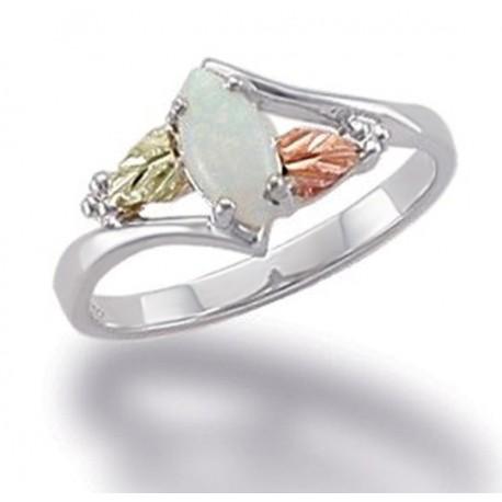 Black Hills Ezüst és 12K Arany Gyűrű Opállal