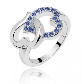 Szívecskés Gyűrű Eredeti Kristállyal
