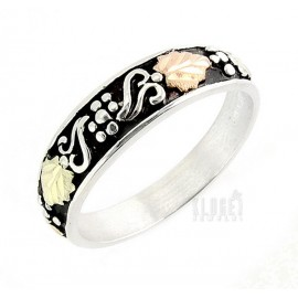Black Hills Ezüst és 12K Arany Karikagyűrű