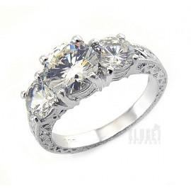 Ezüst Gyűrű Cirkónia Drágakővel