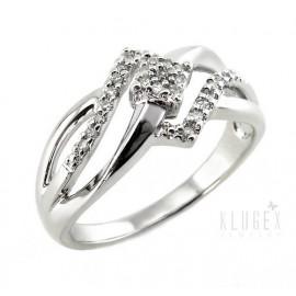 Ezüst Gyűrű Gyémánt Drágakővel