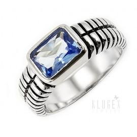 Ezüst Gyűrű Kék Topáz Drágakővel
