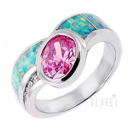 Ezüst Gyűrű Opállal és Cirkóniával