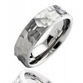 Titánium Karika Gyűrű Kalapácsolt Mintával