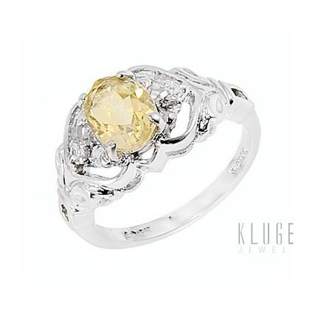 Ezüst Gyűrű Citrin Drágakővel