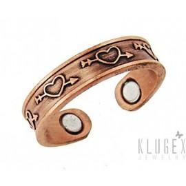 Szívecskés Mágneses Réz Gyűrű