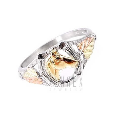 Black Hills Sterling & 12K Arany Lovas Gyűrű