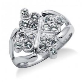 Sterling Ezüst Megfordítható Gyűrű Topázzal
