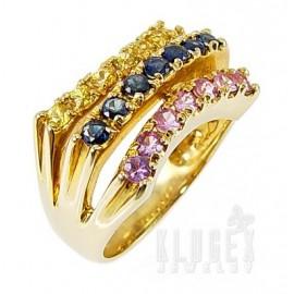 10k Arany Gyűrű Zafír Drágakővel