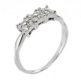 Sterling Ezüst Gyűrű Cirkóniával