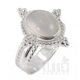 Sterling Ezüst Gyűrű Holdkő Drágakővel