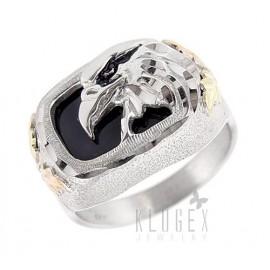 Black Hills Sterling Ezüst & 12K Arany Sasfej Gyűrű