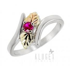 Black Hills Sterling Ezüst & 12K Arany Gyűrű Rubin Drágakővel