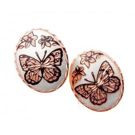 Kézzel Készített Réz Fülbevaló Pillangóval