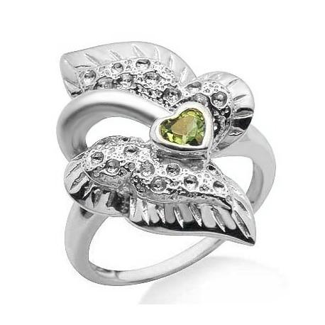 925 Ezüst Gyűrű Peridot Drágakővel