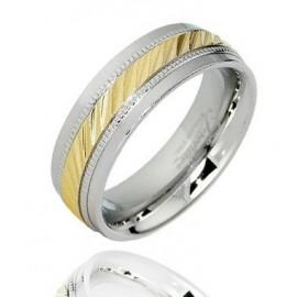Aranyozott Nemesacél Karika Gyűrű