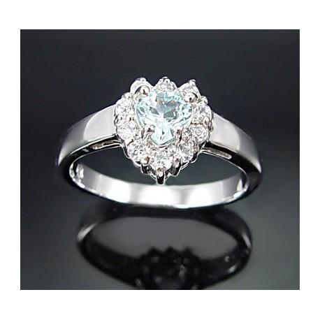 Sterling Ezüst Gyűrű Topáz Drágakővel