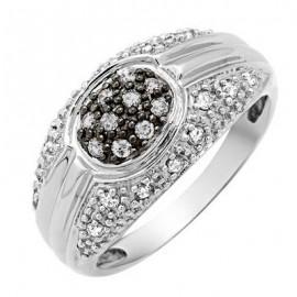 10K Arany Gyűrű Gyémánt Drágakővekkel
