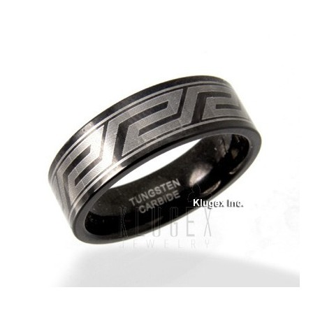 Fekete Tungsten Karika Gyűrű