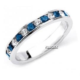 .925 Sterling Ezüst Karika Gyűrű Cirkónia Kővekkel