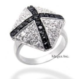 Ezüst Gyűrű Cirkónia Kővekkel