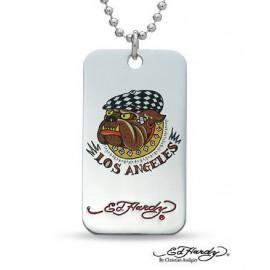 Eredeti Ed Hardy® - Bulldog (Los Angeles) Medál Nyaklánccal