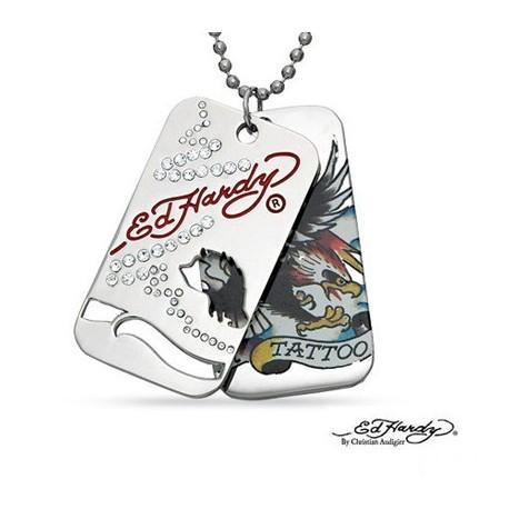 Eredeti Ed Hardy® - Tattoo - Medál Lánccal