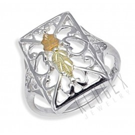Black Hills Sterling Ezüst és 12 Karátos Arany Gyűrű