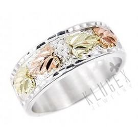 Black Hills Ezüst és 12K Arany Férfi Karika Gyűrű