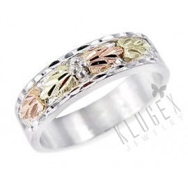 Black Hills Sterling Ezüst & 12K Arany Karika Gyűrű