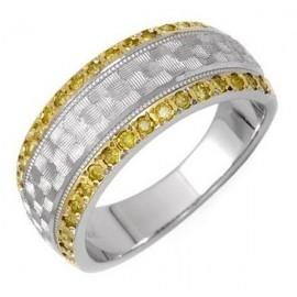 14 Karátos Női Fehér Arany Gyűrű Gyémántokkal