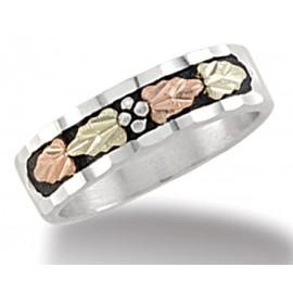Black Hills Sterling Ezüst és 12K Női Arany Karikagyűrű
