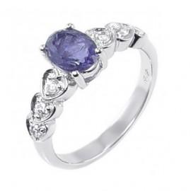 Ezüst Gyűrű Iolite Drágakővel