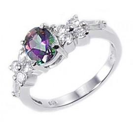 Ezüst Gyűrű Misztikus Topáz Drágakővel