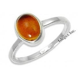 Ezüst Gyűrű Borostyán Drágakővel