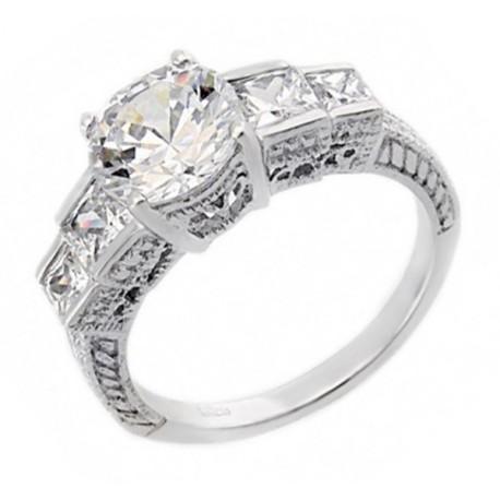 af4973d17 .925 Ezüst Gyűrű Cirkónia Kövekkel - ÉkszerShop | Klugex