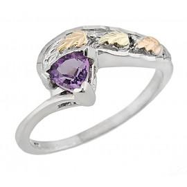 Black Hills Sterling Ezüst és 12K Arany Gyűrű Ametiszt Drágakővel