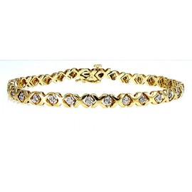 Női arany karkötő gyémánt drágakövekkel
