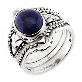 Délnyugati Stílusú Ezüst Gyűrű Lapisszal