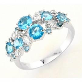 Ezüst Gyűrű Kék Cirkóniával