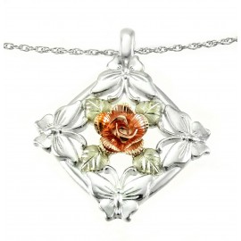 Black Hills Ezüst Medál 10 Karátos Arany Rózsával