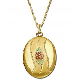 Black Hills Nyitható Medál 10K Arany Rózsával