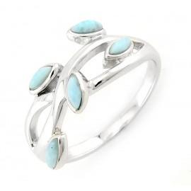 Ezüst Gyűrű Larimár Drágakövekkel