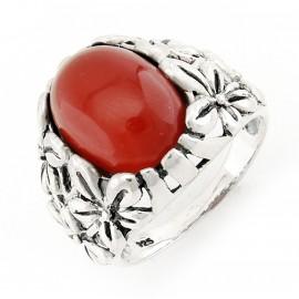 Ezüst Gyűrű Carnelian Drágakövekkel