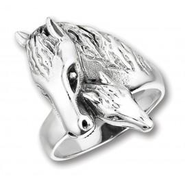 Ezüst Ló és Csikófej Gyűrű