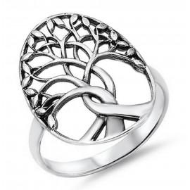 Ezüst Fa Gyűrű az Élet Fája