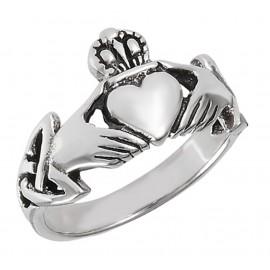 Ezüst Női Claddagh Gyűrű
